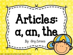 Free - Articles:  A, An, The - by Amy Lemons
