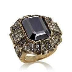 """Heidi Daus """"Estate Elegance"""" Crystal Statement Ring"""
