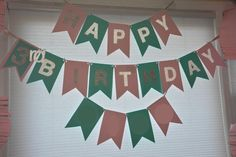 Mommy-made/Homemade Happy Birthday Banner, Perfect And So Easy To Make For Any Birthday Party...Happy Almost 3rd Birthday My Sweet, Loving Little Girl....Little Mermaid Birthday Party