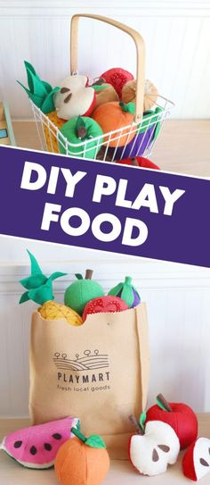 Are you looking for easy DIY felt food patterns, ideas, and templates for kids? This play food tutorial shows you how to make adorable fruits and vegetables for a play grocery store or kitchen! Diy For Kids, Crafts For Kids, Diy Crafts, Crafts With Felt, Easy Felt Crafts, Creative Crafts, Fabric Crafts, Play Grocery Store, Felt Food Patterns