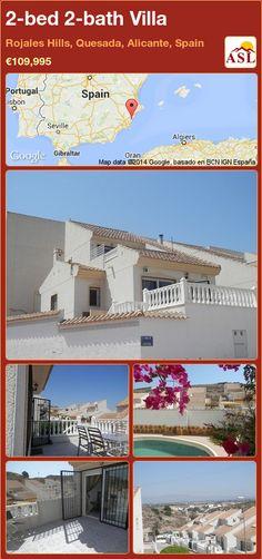 Villa for Sale in Rojales Hills, Quesada, Alicante, Spain with 2 bedrooms, 2 bathrooms - A Spanish Life Portugal, Alicante Spain, Door Steps, Spanish House, One Bedroom, Ground Floor, Master Suite, Terrace, Villa