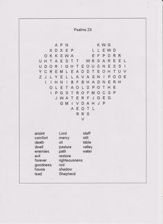 Pin by Sandrine on Psalm 23, katholische Arbeitsblätter für Kinder ...
