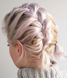 Two+Messy+Braids+For+Short+Hair