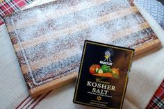 Another way to clean a chopping board is to cover liberally with Kosher salt and leave overnight. Scrape off with a cloth in the morning to find the salt has absorbed all moisture to leave your board clean and dry.