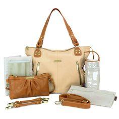 Amazon.com : timi & leslie Kate 7-Piece Diaper Bag Set, Dark Teal/Saddle : Baby