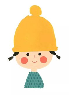 Girl with a yellow cap (illustration by Ekaterina Trukhan)