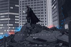 The Dark Knight (Variant) Screenprint Poster xx/225 N'd Mondo Batman Durieux