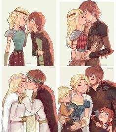 1 hiccup and astrid second year in Hogwarts 2 hiccup and astrid fifth year in hogwarts 3 22 yers both 4 35 years both Httyd Dragons, Dreamworks Dragons, Disney And Dreamworks, How To Train Dragon, How To Train Your, Disney Memes, Disney Cartoons, Hicks Und Astrid, Hiccup And Astrid