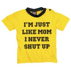 """Just Like Mom Baby-Shirt """"Baby-Shirt"""" gelb - jetzt kaufen! EMP"""