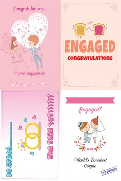 A sample of four designs from our Engagement collection