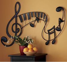 pretty sure i should paint something like this on my little music lover's wall!