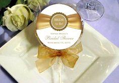 Elegant Gold Ribbon Design Personalized Cookie Favor (4 Design)