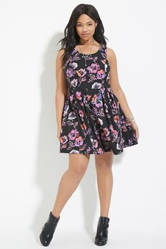Plus Size Floral Dress | Forever 21 PLUS - 2000187331