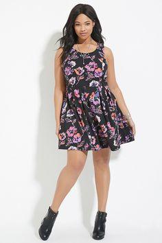 Plus Size Floral Dress | Forever 21 PLUS - 2000187331