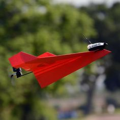 POWERUP Original Smartphone Controlled Paper Airplanes Conversion Kit - Durable Remote Controlled RC Airplane for Beginners, Works with Most Paper Airplane Books Paper Airplane Book, Paper Plane, Smartphone, Drones, Airplane Drone, Bluetooth Low Energy, Air Traffic Control, Airplane Design, Tech Toys