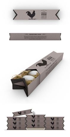 What Came First? The Chicken, The Egg Or The Packaging? Premium Box Egg Packaging in dark grey | Design: We Design Packaging |