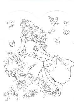 Coloring Book Pages Sheets Disney For Kids Stuff Princess Digi Stamps Character Drawing