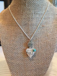 Mini Heart Aromatherapy Diffuser Heart Necklace Locket Pendant with Howlite Turquoise Bead in Your Choice of Colour by RemedyEssentialOils on Etsy https://www.etsy.com/listing/258664649/mini-heart-aromatherapy-diffuser-heart