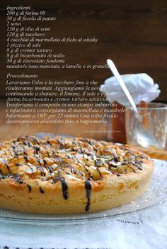 Pane, burro e alici: Torta con marmellata di fichi al whisky e mandorle
