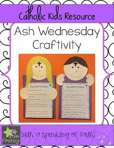 Ash Wednesday Catholic Craft: These easy to make Ash Wednesday Crafts will make an eye catching hallway display in your Catholic School! Students can write out their promises for Lent to add to their craft. Catholic Lent, Catholic Schools Week, Catholic Crafts, Catholic Catechism, Catholic Religious Education, Church Crafts, Sunday School Lessons, Sunday School Crafts, Bible Lessons