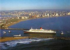 entering Durban Harbour - we watched from our balcony to see if we could see her arrive - but no luck? Durban South Africa, South Afrika, Most Beautiful Beaches, Beautiful Places In The World, Apartheid Museum, City By The Sea, Kwazulu Natal, World Cities, New South