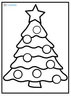 Omalovánka - vánoční stromeček