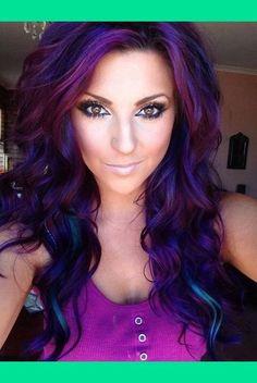 Purple blackish hair