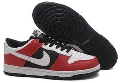 UK Market - Nike Dunk Low Cut Mens Red Black White Trainers