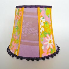"""""""Plum Preserves"""" vintage lamp shade for sale for $240. Handcrafted by elle daniel, this high quality lamp shade is truly one-of-a-kind, and makes a perfect gift for fans luxury and vintage home decor. Purchase at www.elledaniel.com."""