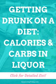 On a diet but want to drink with your friends? Click to find out your best alcohol options and how many carbs and calories your favorite liquor has- you'll be surprised! #fitfam #fitness #fitmom