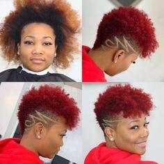 🌺💈🌺~ New Hairdo-Hairstyle-Haircut Just Simply Stunning ~🌺💈🌺 . Natural Hair Short Cuts, Tapered Natural Hair, Short Dark Hair, Short Hair Cuts, Natural Hair Styles, Shaved Hair Designs, Tapered Haircut, Undercut Hairstyles, Natural Mohawk Hairstyles