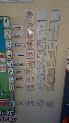 Use English words Kindergarten Math, Teaching Math, Preschool Activities, Autism Learning, Toddler Learning, Spanish Teaching Resources, Math Resources, Math Games, Learning Activities