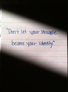 Our identity should be in Jesus Christ alone; we have to give up our victim mentality