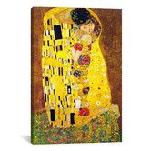 Found it at AllModern - 'The Kiss' by Gustav Klimt Painting Print on Canvas