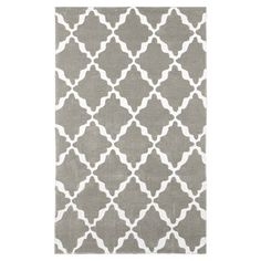 Lattice Rug, Warm Gray/Ivory #pbteen