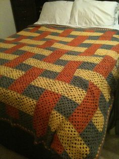 Transcendent Crochet a Solid Granny Square Ideas. Inconceivable Crochet a Solid Granny Square Ideas. Crochet Bedspread, Crochet Quilt, Granny Square Crochet Pattern, Crochet Squares, Crochet Blanket Patterns, Baby Blanket Crochet, Crochet Baby, Crochet Blankets, Crochet Ideas