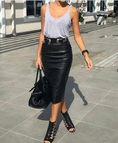 Ideas Moda Rock Black Pencil Skirts For 2019