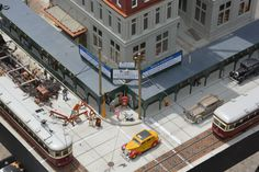 A bird's eye view of the corner where Doan Towers is being built. Photo and modeling by Greg Shinnie