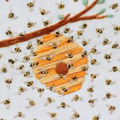 One of my favourite things about surface embroidery is the range of looks that can be achieved simply by playing with scale and number of… Etsy Embroidery, Embroidery Stitches Tutorial, Embroidery On Clothes, Flower Embroidery Designs, Simple Embroidery, Embroidery Hoop Art, Hand Embroidery Patterns, Embroidery Techniques, Cross Stitch Embroidery