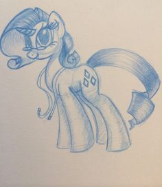 Rarity art I did with some cool blue pencil lead I got, makes me feel like a real artist or something~ Mlp Fan Art, My Little Pony, How To Draw Hands, Animation, Rarity, Feelings, Cool Stuff, Unicorns, Artist
