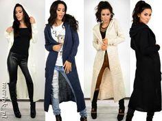 sweter na jesień na Feegle Duster Coat, Jackets, Fashion, Down Jackets, Moda, Fashion Styles, Fashion Illustrations, Jacket