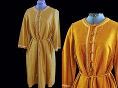 VINTAGE 60's SILK SADIE for Imagnin Dress Bust 40 sz L #Dresses