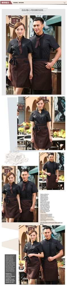 Aliexpress.com : Buy Free tie and apron fashion hotel cafeteria supermarket shopping guider waitress uniform waiter workwear from Reliable ties ties suppliers on Raylayland-Fitted Workwear Store