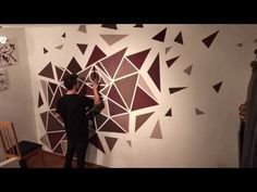 Geometrical wall painting | YouTube
