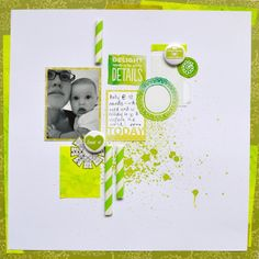 Paper and Pins... my handmade journey: White With... PISTACHIO! yum... My Scrapbook, Scrapbook Layouts, Maui Vacation, Pistachio, Embellishments, Vintage Fashion, Journey, Paper, Projects