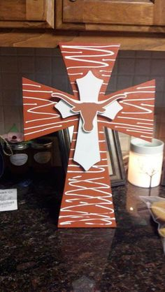 Hey, I found this really awesome Etsy listing at https://www.etsy.com/listing/157864823/texas-longhorns-cross