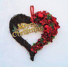 Dekorácie - vianočné srdiečko - 7426580_