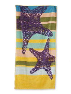Toalha praia com estrelas do mar