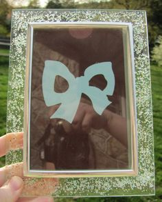 Custommade Beveled Glass Picture Frame by BellesUniqueBoutique, $12.99