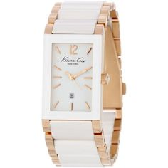 Kenneth Cole New York Women's KC4741 Classic Rectangle Tank Analog Ceramic Bezel Watch